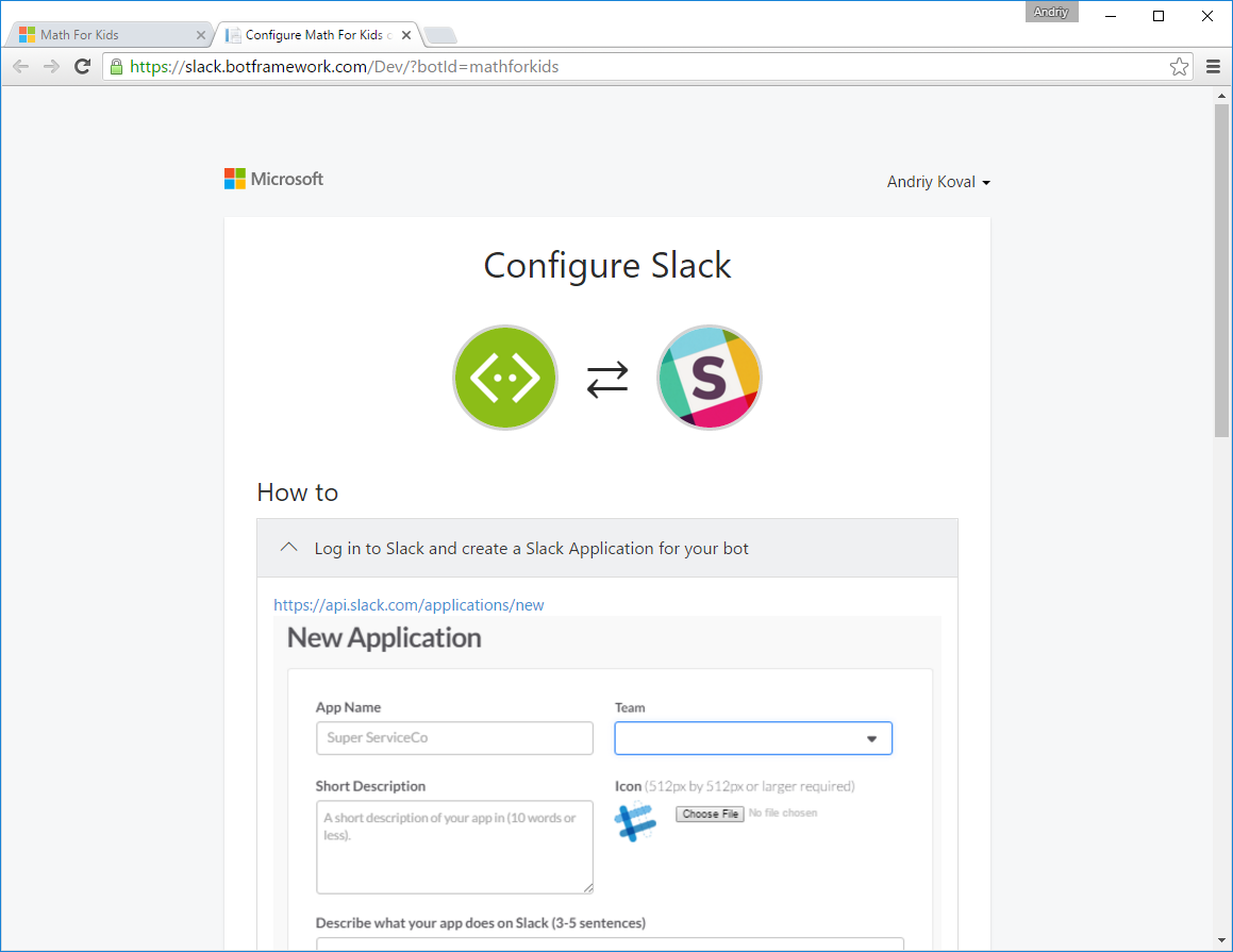 Microsoft Bot Framework Portal